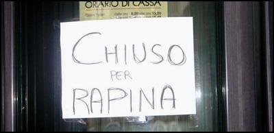 ChiusoRapina