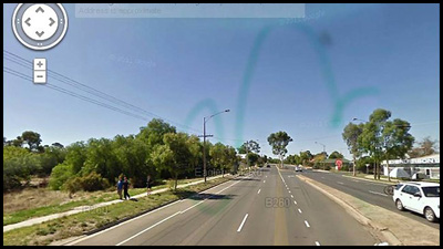 Un pene su google street view