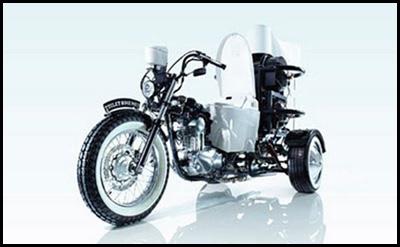 La moto che va ad escrementi